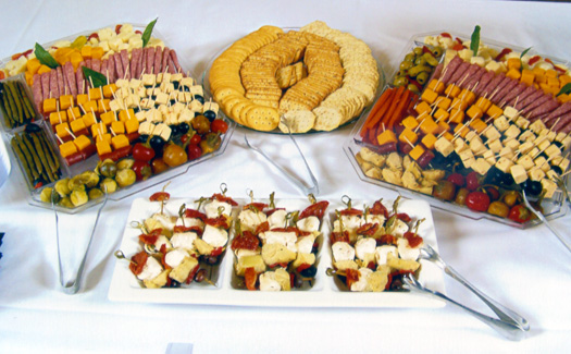 Table with hors d'oeuvres