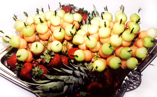 Fruit kabob platter