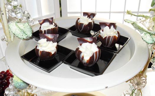 Plate of chocolate desserts