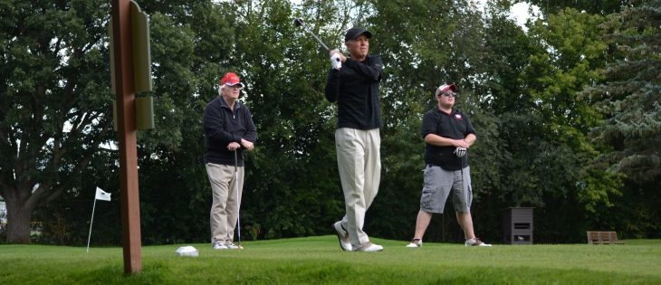 Golfer at golf outing